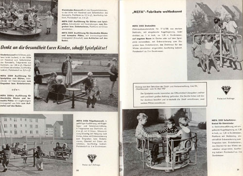 Spielplatz-Karussells seit den 50er Jahren
