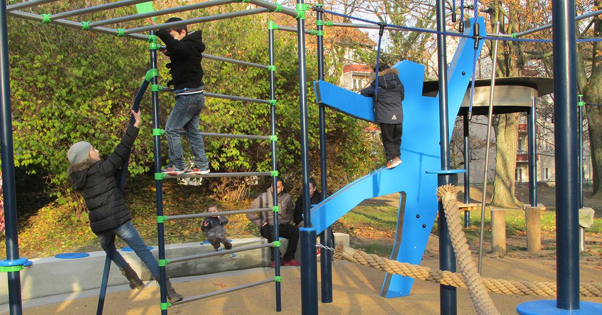Spielplatz im Koeltzepark in Berlin Spandau. Foto: Raum für Kinderträume