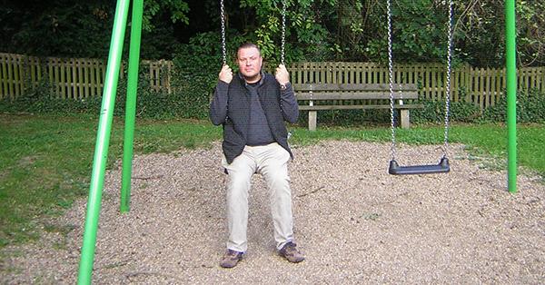 Jens Weymann ist seit über 20 Jahren Spielplatzpate in Mülheim