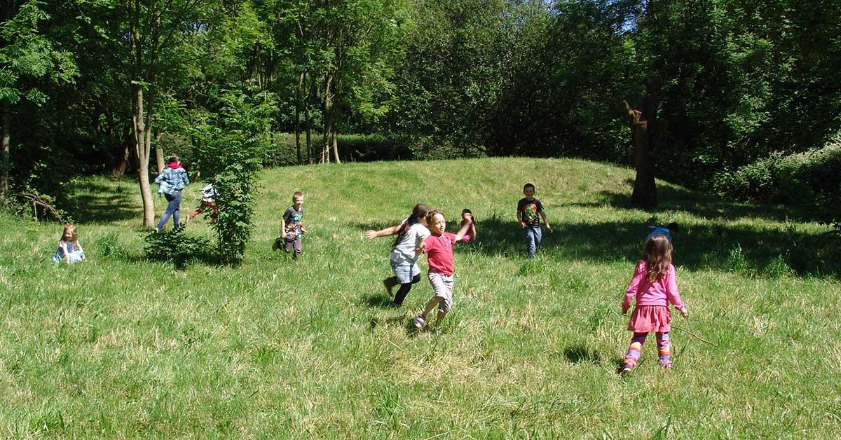 In Zusammenarbeit mit Schulen sollen noch mehr Kinder für die Flächen begeistert werden. Foto: Wildnis für Kinder