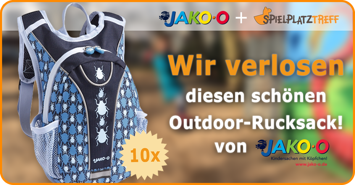 Spielplatztreff Verlosung: Rucksack von Jako-o