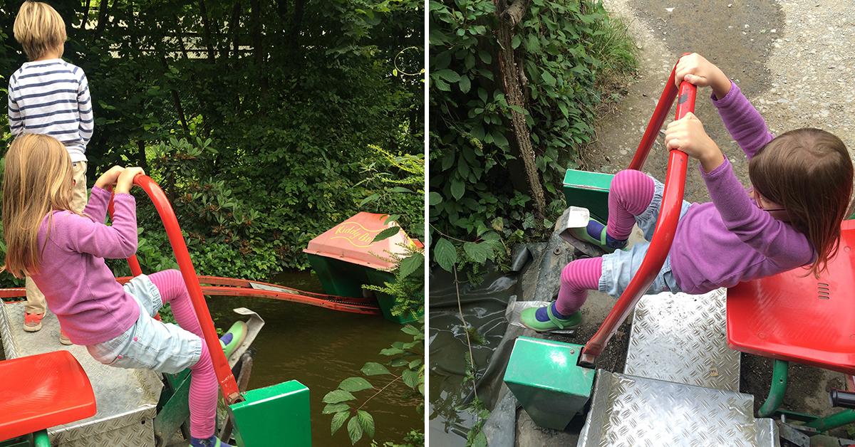 Treten, treten, treten... langsam wird das Boot aus dem Wasser gezogen. Foto: Schilling