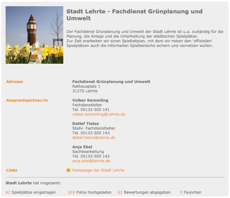Userprofil der Stadt Lehrte