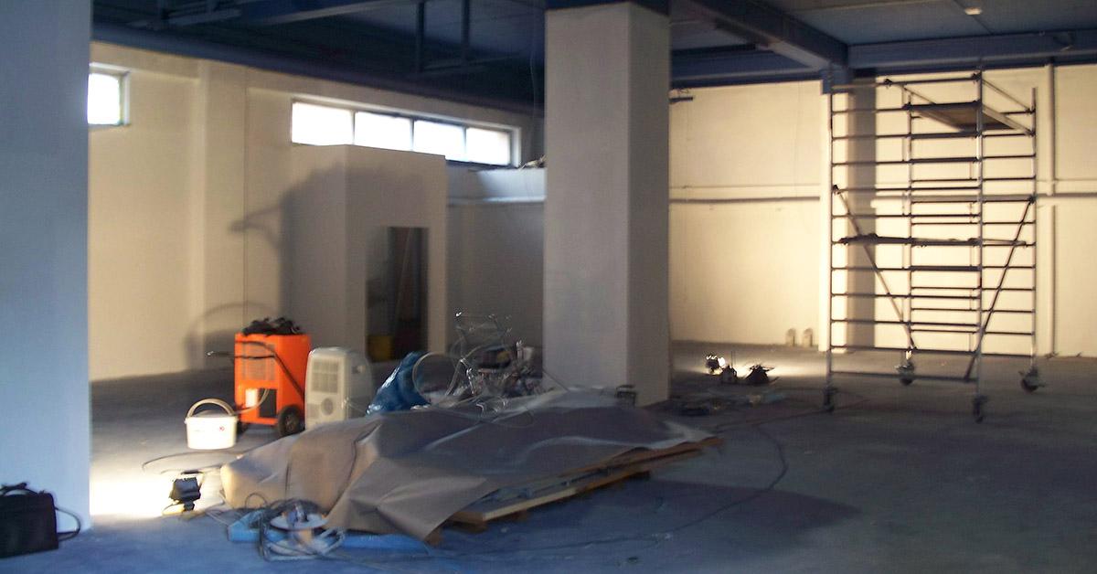 Noch wird im Playtogether kräftig gearbeitet, bald gespielt. Foto: Pavillon Leipzig