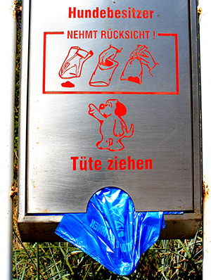 Tütenbehälter für Hundebesitzer
