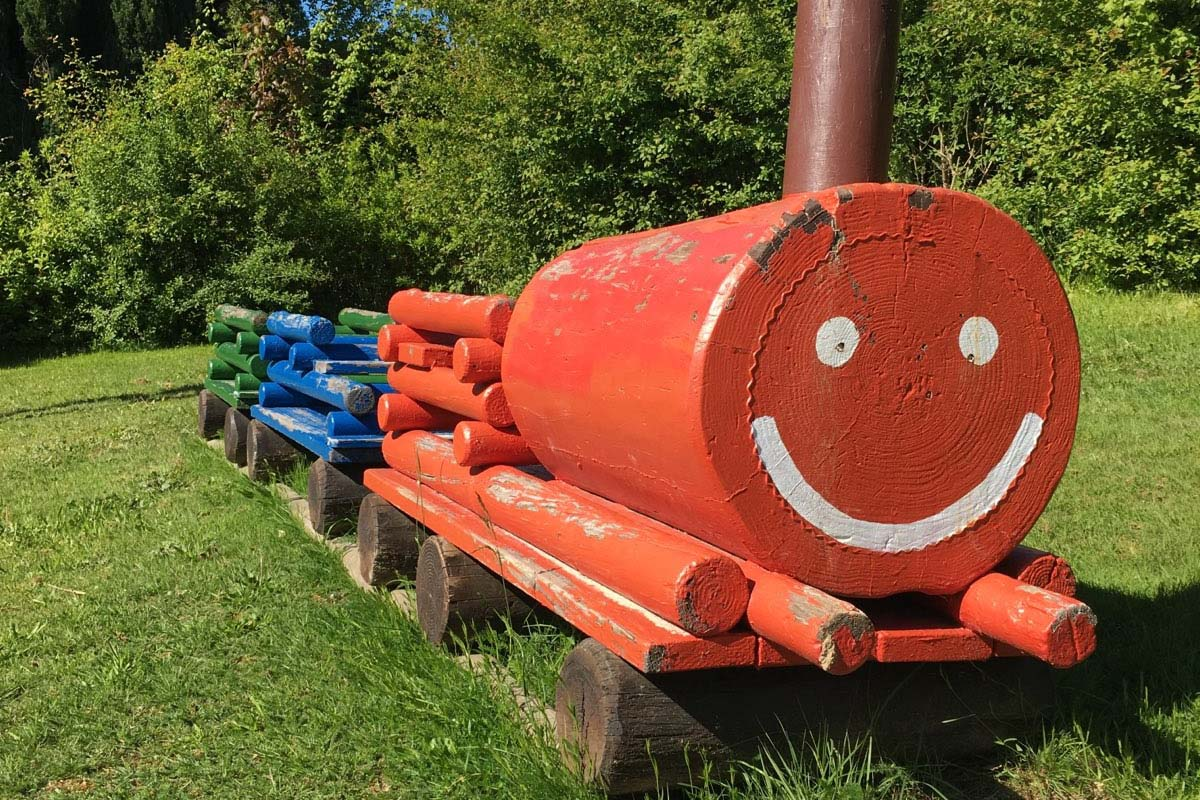 Spielplatz-Eisenbahn