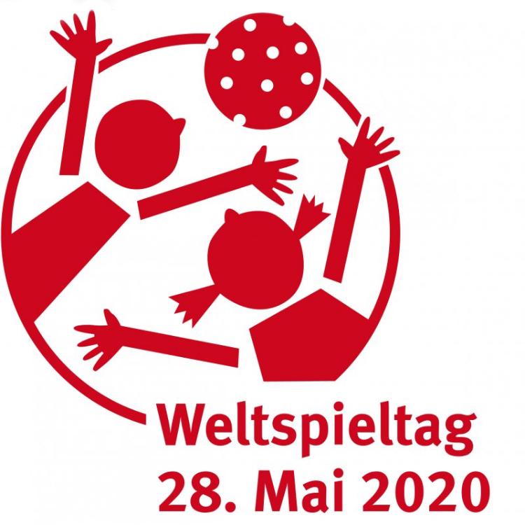 Pictogramm mit spielenden Kindern Weltspieltag 2020