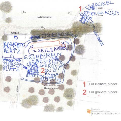 Spielplatz-Skizze