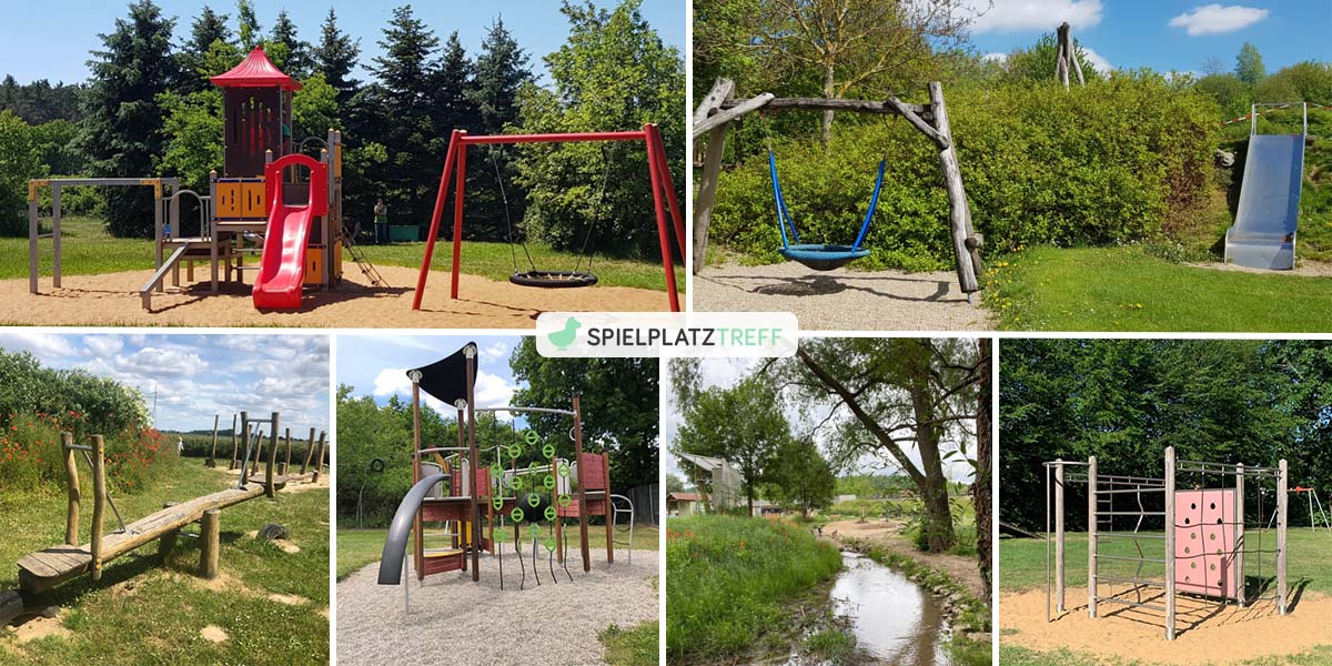 Collage mit Spielplatz-Fotos