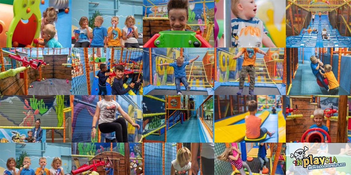 Fotocollage Indoorspielplatz Inplaysia