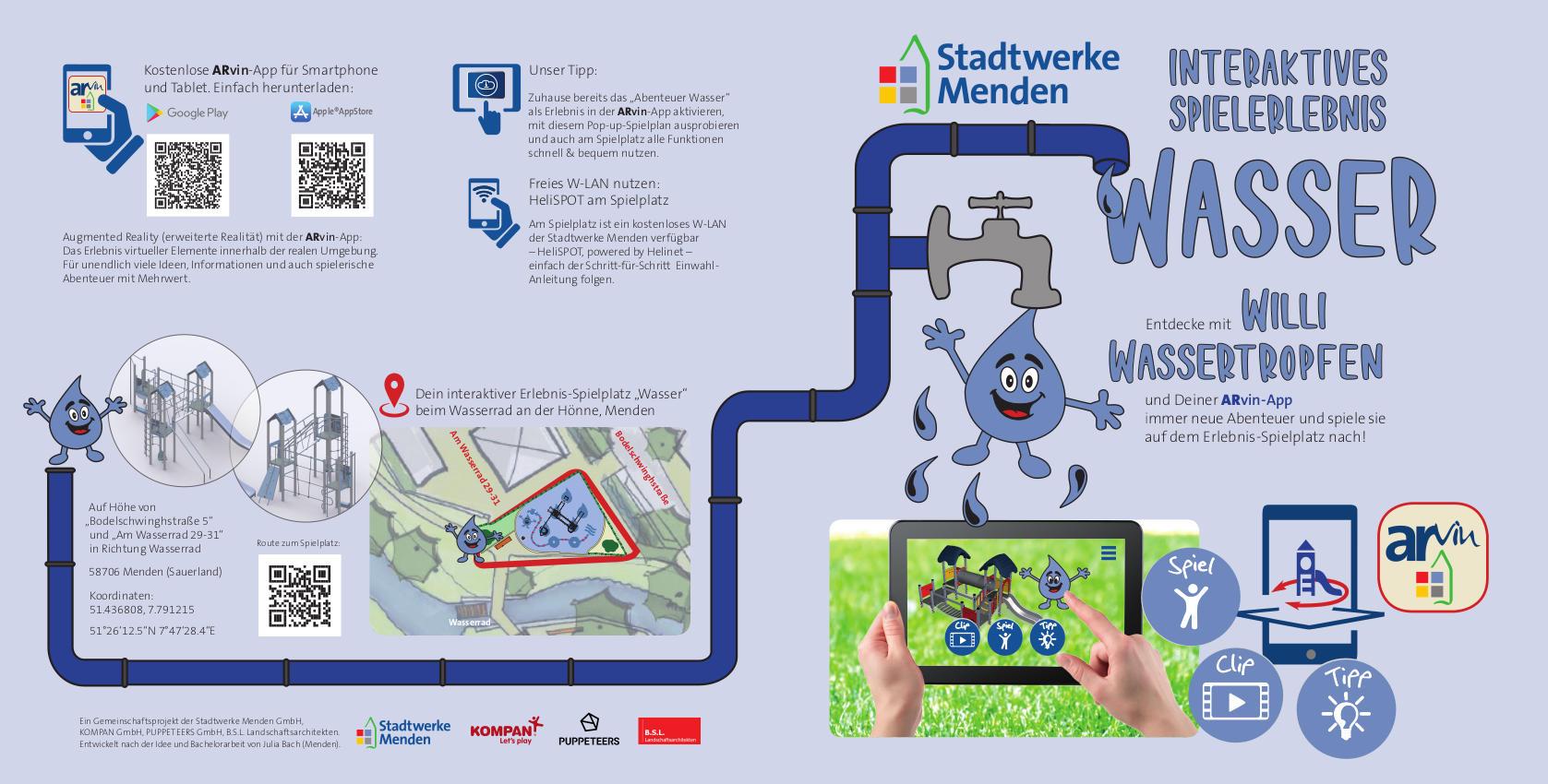 Spielplatz-Grafik zum Thema Trinkwasser