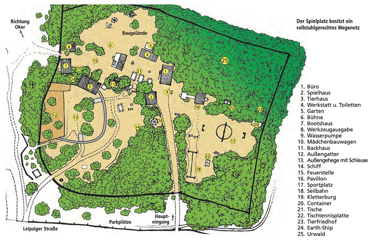 Lageplan vom Abenteuerspielplatz Melverode