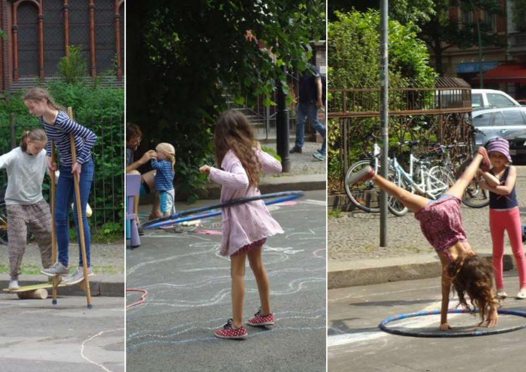 Kinder auf der Spielstraße
