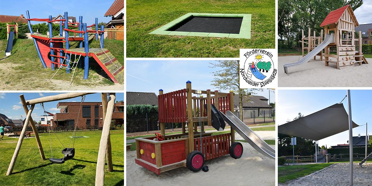 Fotocollage Nordwalder Spielplätze