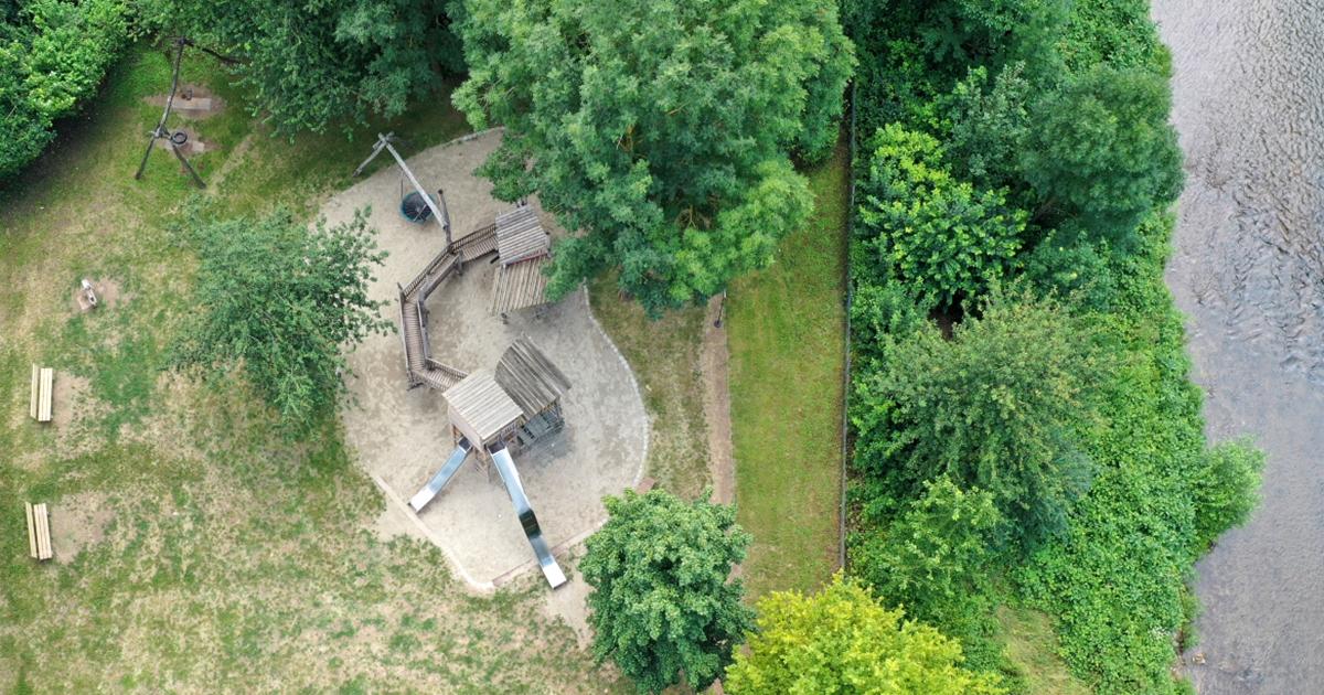 Spielplatz in Schorndorf von oben
