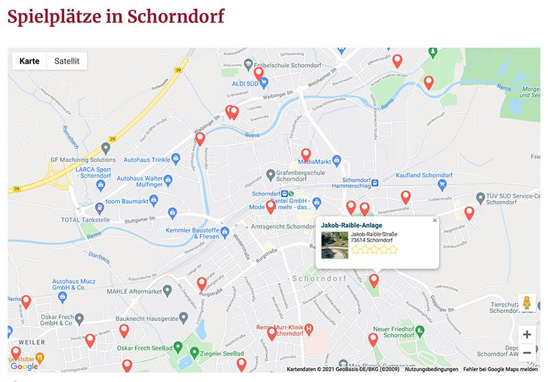 Spielplatzkarte Schorndorf