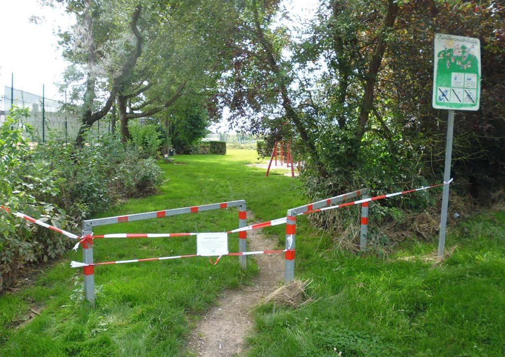 Spielplatz Erftstadt Hochwasser