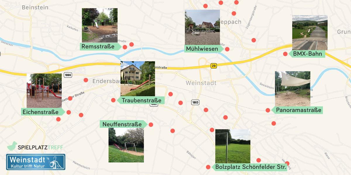 Spielplatzkarte Weinstadt