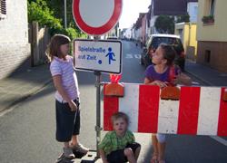 Spielstraße auf Zeit