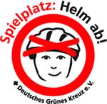 Auf dem Spielplatz: Helm ab!