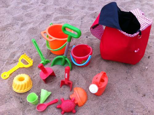 Sandspielzeugtasche