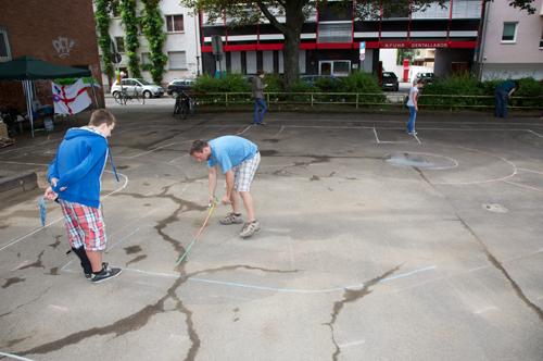 Spielstraße - Vorbereitungen