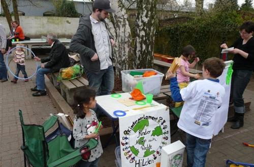 Einsatz in der Freien Christlichen Schule, April 2013, Kooperation mit dem Kinderparlament Hilden, Foto: Jugendförderung Hilden -md