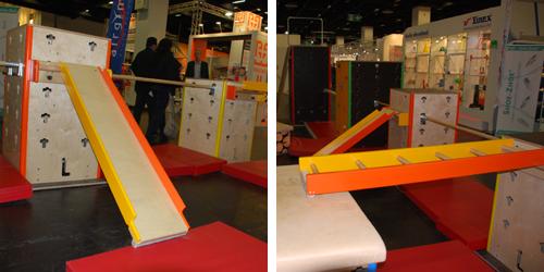 Clevere, flexible Bewegungslandschaften für Kindergarten und Schule der Firma Cube Sports, Foto: Schillng