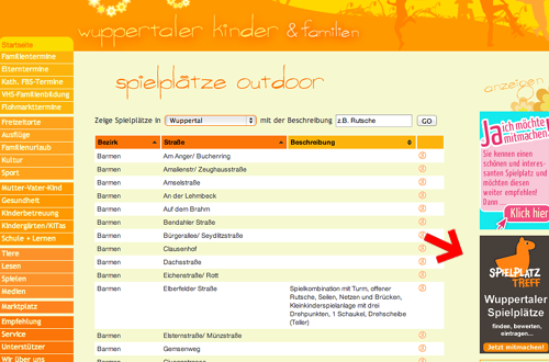 Wuppertaler Kinder verlinken auf spielplatztreff.de