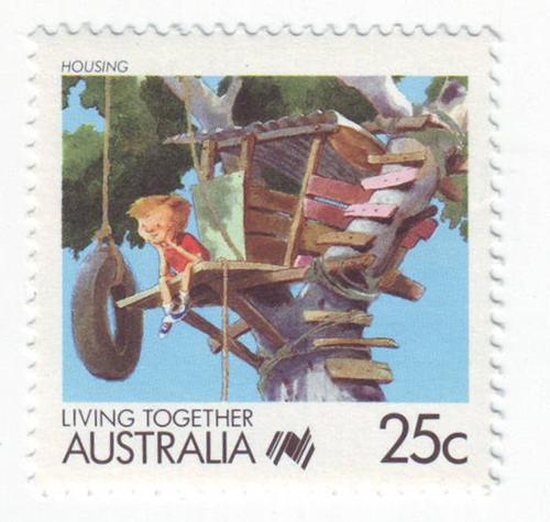Spielplatz-Briefmarke Australien 1988