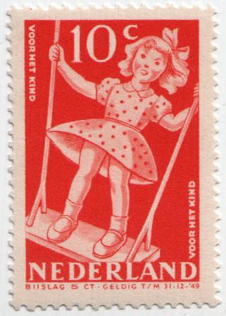 Spielplatz-Briefmarke Niederlande 1948