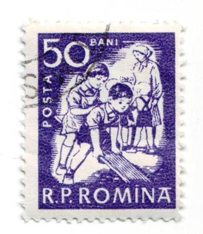 Spielplatz-Briefmarke Rumänien 1960