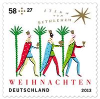 Weihnachtsbriefmarke 2013