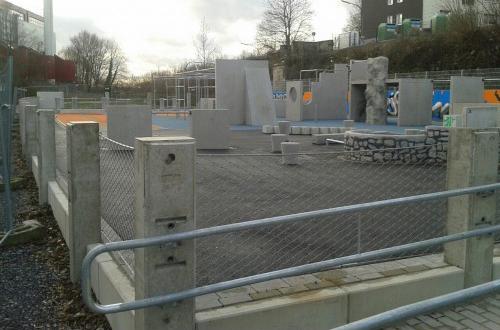 Parkour-Anlage auf dem Bergischen Plateau in Wuppertal, Foto: Spielplatztreff-User Sebastian208
