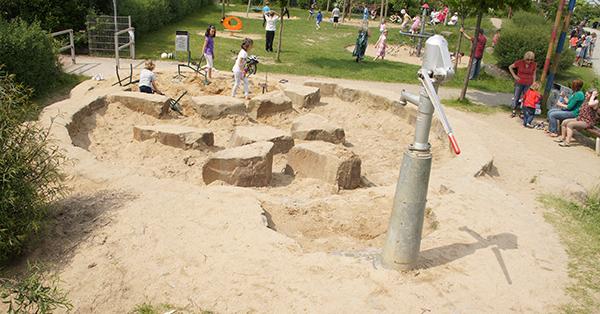 Wasserspielplatz Mondweg in Moers. Foto: Stadt Moers