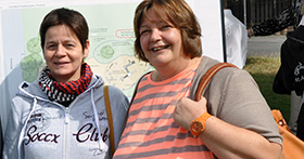 Frau Paul (links) und Frau Heinemann vom Amt für Kinderinteressen der Stadt Köln waren eine große Stütze. Foto: Urbacher Räuber e.V.