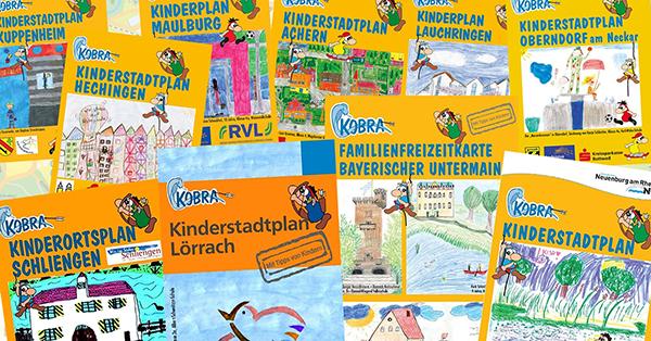 Die Kinderzeichnungen sind ganz besonderes Kennzeichen der KOBRA Kinderstadtpläne.