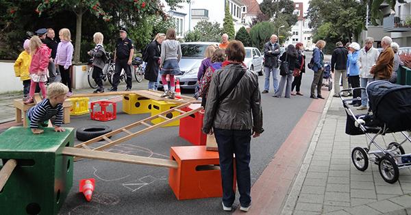 Die Max-Reger-Straße in Bremen wird temporär zur Spielstraße. Foto: SpielLandschaftStadt e.V.